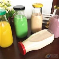 厂家直销奶茶瓶星巴克奶瓶鲜奶瓶铁盖牛奶玻璃瓶