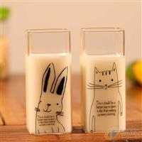 学生可爱动物水杯果汁杯牛奶杯厂