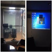 广州欧毅建材――OY高层办公室雾化玻璃隔墙