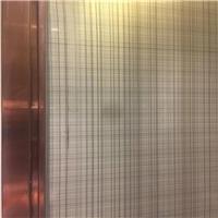 夹丝玻璃 夹胶玻璃 酒店装饰夹绢玻璃厂