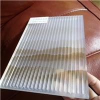 夹山水画条纹玻璃 条纹玻璃夹丝玻璃 厂