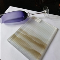 夹山水画条纹玻璃 条纹玻璃夹丝玻璃