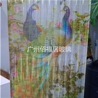 花开富贵夹绢画玻璃厂