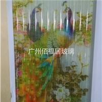花开富贵夹绢画玻璃