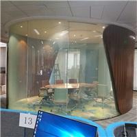 办公室调光玻璃 广州东塔弧形雾化玻璃厂