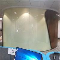 办公室调光玻璃 广州东塔弧形雾化玻璃