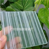 夹丝玻璃白色条纹夹丝玻璃