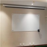 北京烤漆玻璃白板安装磁性玻璃白板安装办公玻璃白板
