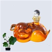 2斤生肖猪动物造型玻璃酒瓶