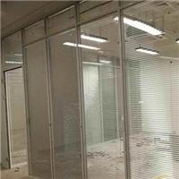 深圳铝合金边框百叶玻璃隔断