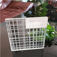 车刻线条格子夹胶玻璃 超白线条车刻玻璃厂