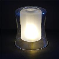 玻璃灯罩 130x120x140收腰喇叭双层罩