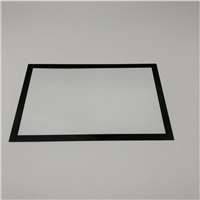 供应10.1寸显示屏丝印玻璃,0.7mm丝印钢化玻璃
