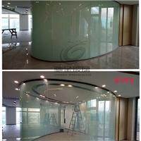 专业定制弧形调光玻璃 光电遥控变色玻璃