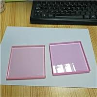 夹胶玻璃 粉红色透明夹胶玻璃 厂
