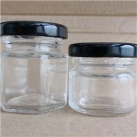 徐州玻璃瓶厂家供应高白料六棱玻璃喜蜜瓶
