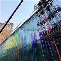 炫彩玻璃 彩色玻璃 幕墙炫彩钢化玻璃
