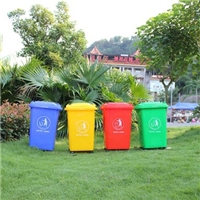 垃圾桶  工厂分类垃圾桶  50L带轮垃圾桶