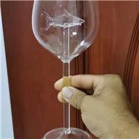 高脚杯鲨鱼玻璃杯子550ml