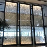 同民生产特殊夹丝玻璃 楼房售卖部艺术玻璃屏风