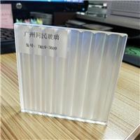 广州条纹玻璃 双面瓦楞条纹玻璃 条纹玻璃隔断