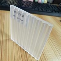 广州条纹玻璃 双面瓦楞条纹玻璃 条纹玻璃隔断厂