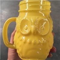 喷涂猫头鹰玻璃杯
