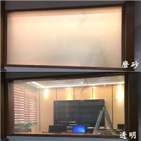 通电雾化玻璃浴室门 智能变光玻璃膜