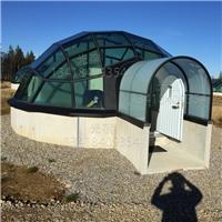 隔音玻璃屋 度假民宿玻璃屋 透明泡泡屋设计定做