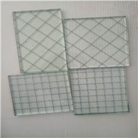 供应6.8mm夹钢丝玻璃 防爆夹丝玻璃