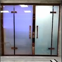 调光玻璃平开门 通电雾化玻璃推拉门