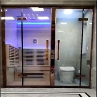 调光玻璃平开门 通电雾化玻璃推拉门厂