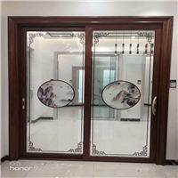 玻璃山水背景墙水墨画玻璃隔断 玻璃彩雕机