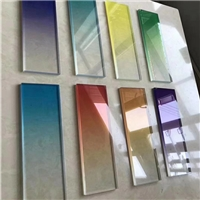 UV渐变贴膜玻璃色板2厂