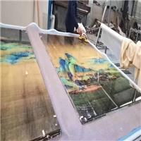 夹丝夹绢玻璃定制 背景墙玻璃厂家直销