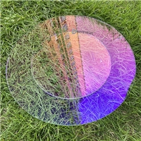 炫彩高透AR玻璃 透紫透蓝双面AR玻璃 光学钢化AR玻璃厂