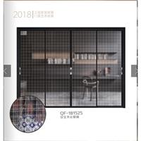厂家定制夹丝玻璃材料艺术玻璃夹丝布装饰展览玻璃夹丝