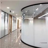 广州同民磨砂渐变玻璃办公隔断弧形渐变玻璃厂家