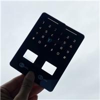 智能门锁钻孔玻璃 密码按键防指纹门锁丝印玻璃
