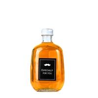 玻璃瓶小酒瓶100毫升扁酒瓶铝盖密封瓶