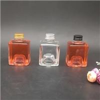 玻璃瓶方型酒瓶铝盖密封瓶果汁瓶杨梅酒分装瓶厂