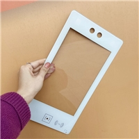 线条打孔丝印玻璃 长条超白钻孔丝印钢化玻璃加工厂