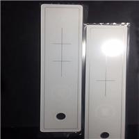 线条打孔丝印玻璃 长条超白钻孔丝印钢化玻璃加工