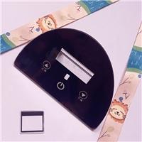 定制2mm厚丝印玻璃 智能电容触摸屏盖板钢化玻璃
