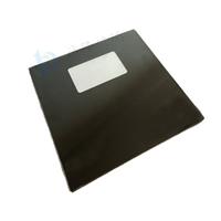 1mm灯具玻璃 挖孔半透黑色丝印玻璃 东莞钢化厂