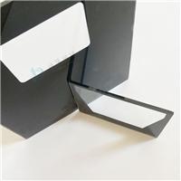 1mm灯具玻璃 挖孔半透黑色丝印玻璃 东莞钢化