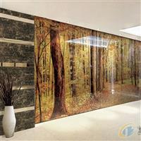 艺术玻璃背景墙—黄金满地2