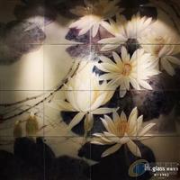 新中式背景墙—瑞莲