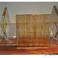 山水画真丝玻璃 纯天然麻丝玻璃材料