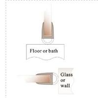 PC超透浴室玻璃门胶条, 淋浴房防水密封胶条